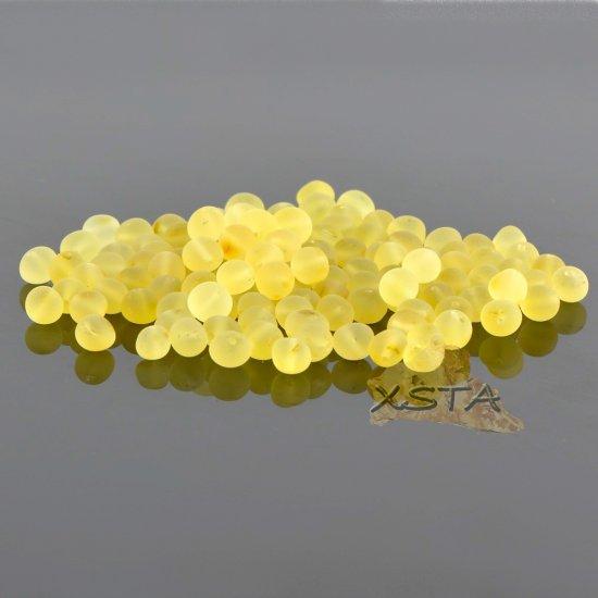 Raw lemon baroque amber beads 6-7 mm