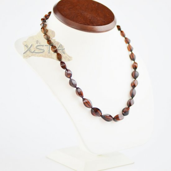 Amber natural necklace cherry beads