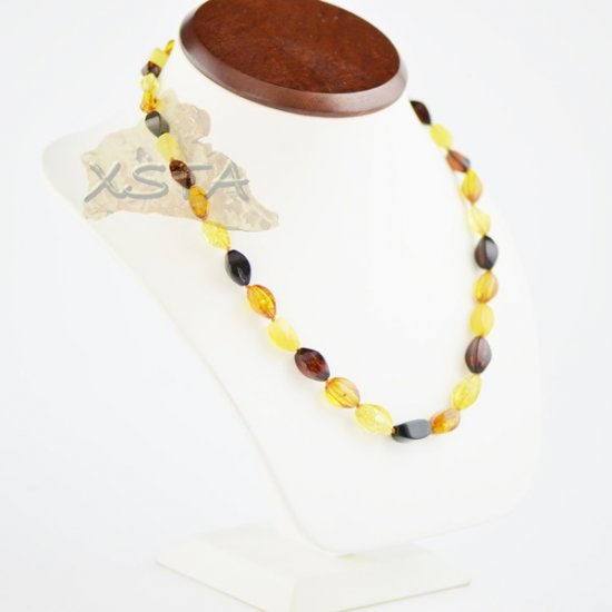 Amber natural necklace multi beads