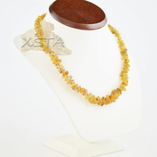 Amber natural necklace raw beads