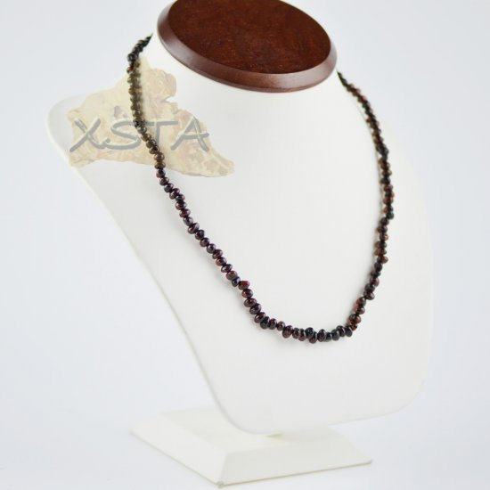 Baltic amber cherry beads necklace