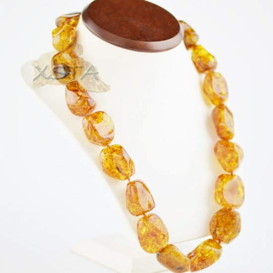Large Baltic amber beads necklace