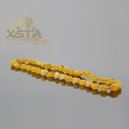 Amber natural necklace butter beads