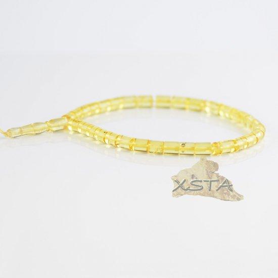 Amber rosary lemon color cylinder