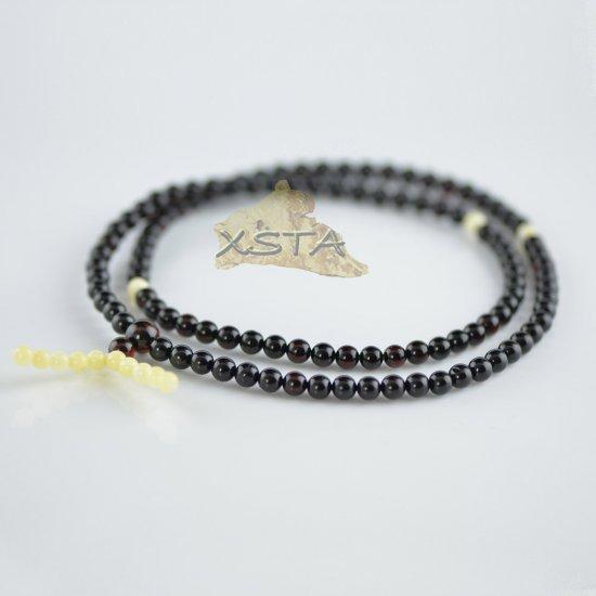 Cherry mala with white beads