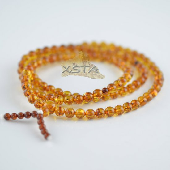 Cognac mala with cherry beads