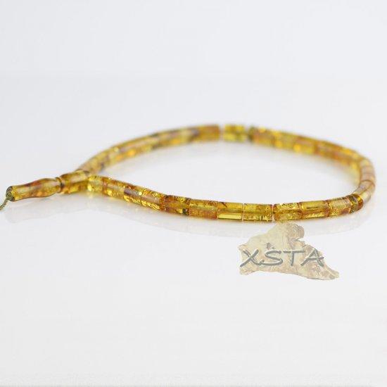 Cylinder amber tesbih rosary