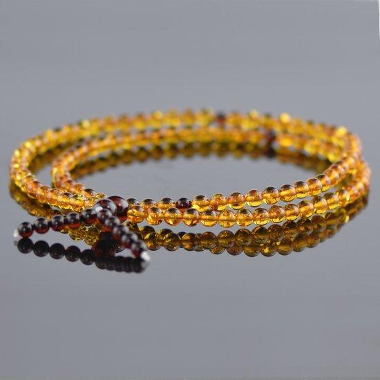 Cognac mala with cherry ending beads