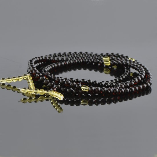 Cherry mala with lemon beads