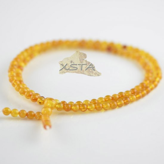 Light butterscotch mala beads