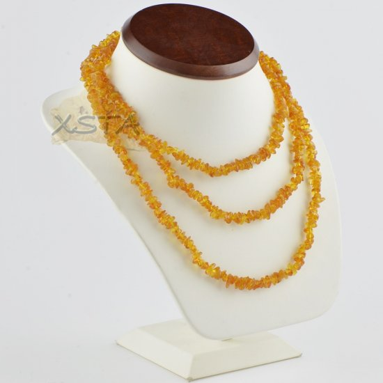 Amber necklace 130 cm long