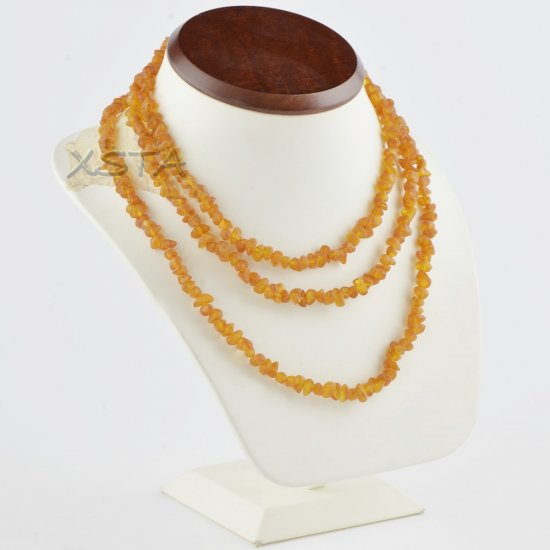 Amber necklace raw chips beads