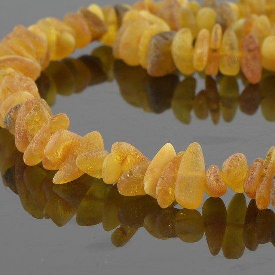 Amber necklace unpolished beads