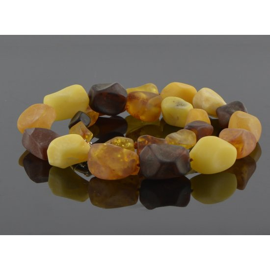 Amber necklace for women raw beads