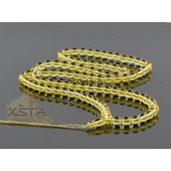 Lemon round bead islamic rosary