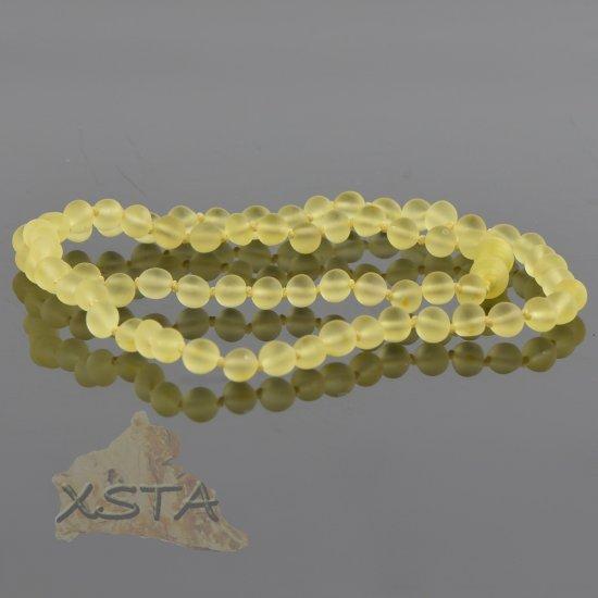Amber necklace baroque lemon raw
