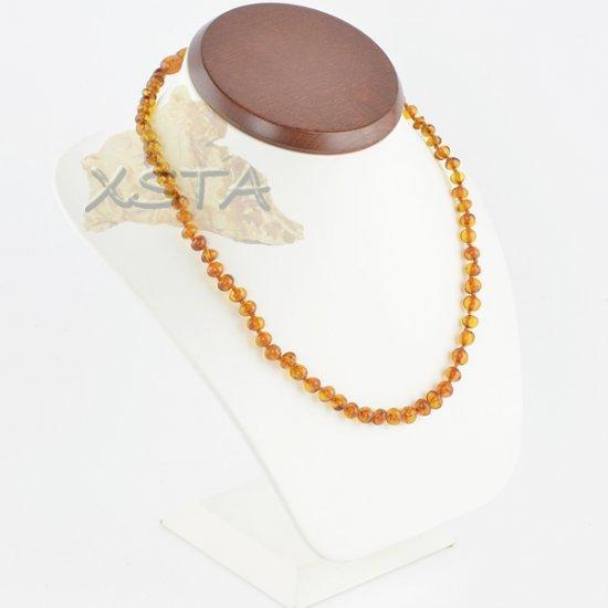 Amber baroque necklaces cognac