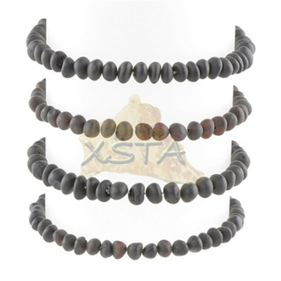 Amber bracelet Raw black