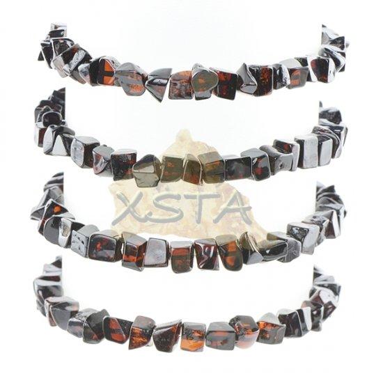 Amber bracelet cherry color polished