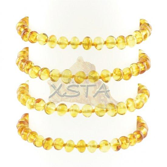 Amber bracelet honey with screw clasp