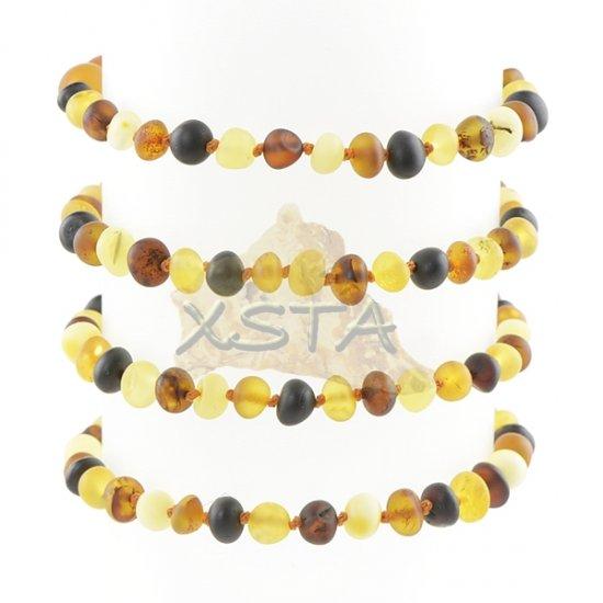Amber bracelet mix with screw clasp