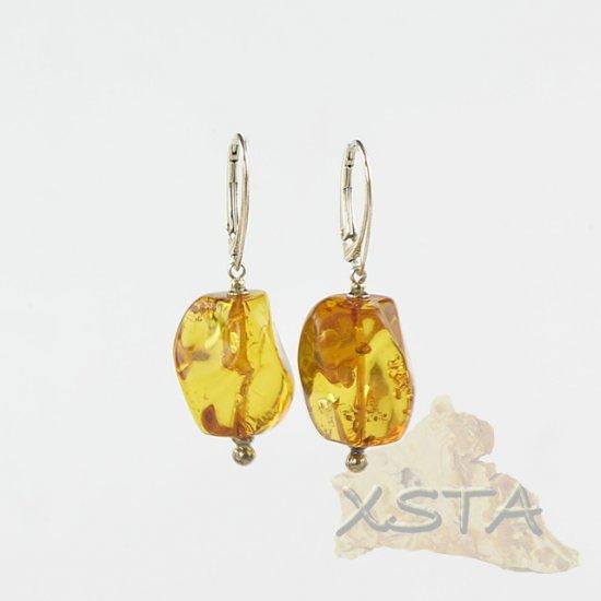 Amber earrings for women