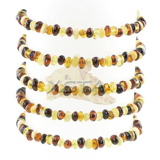 Amber mix small beads bracelet