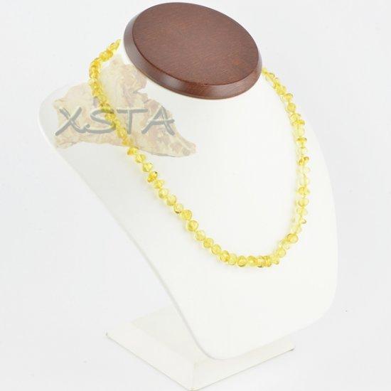 Amber necklace baroque lemon