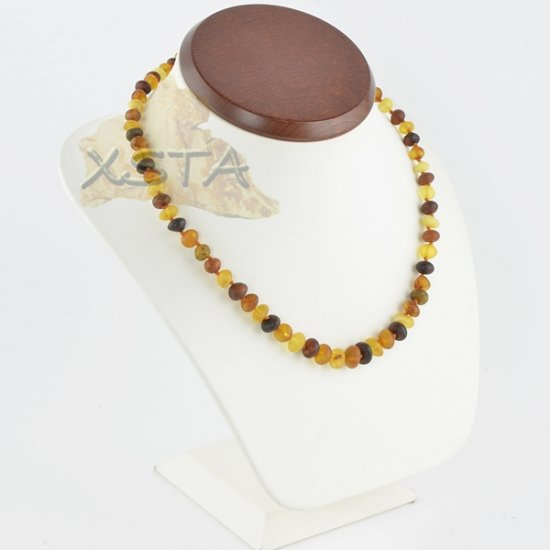 Amber necklace baroque raw multicolour