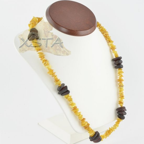 Amber necklace chips mix
