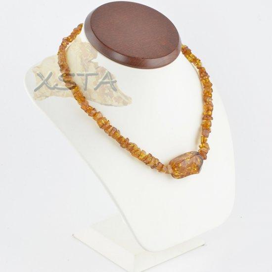 Amber  necklace irregular cognac with pendant
