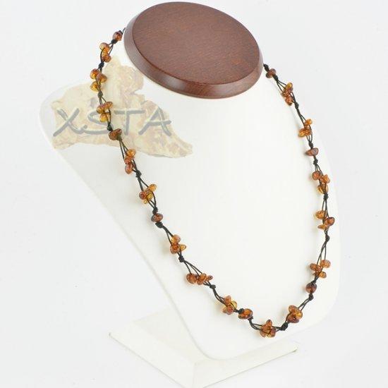 Amber necklace polished