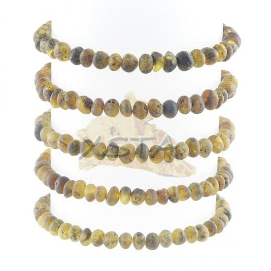 Amber raw baroque style bracelet