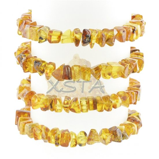 Baltic amber bracelet green yellow