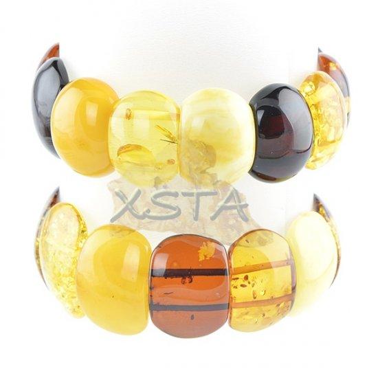 Baltic amber bracelet - natural mix