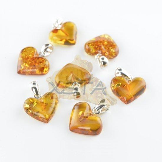 Baltic amber heart shape pendant