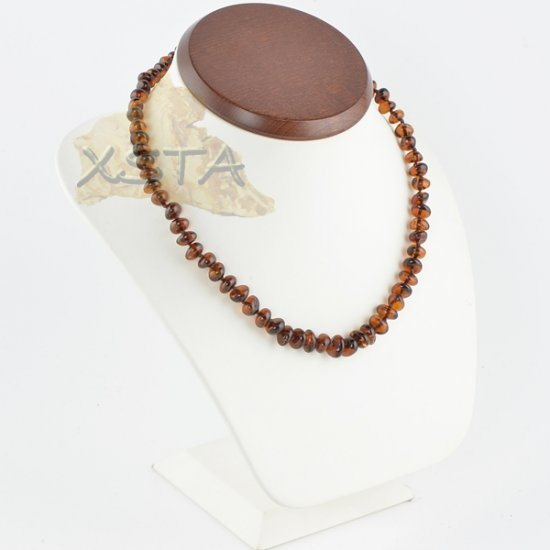 Cherry Amber necklaces polished baroque