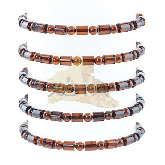 Cherry barrels round amber bracelet