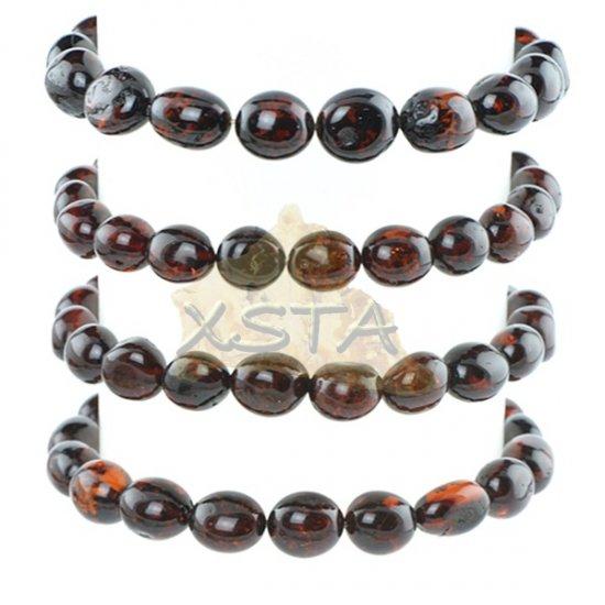 Cherry natural amber beads bracelet