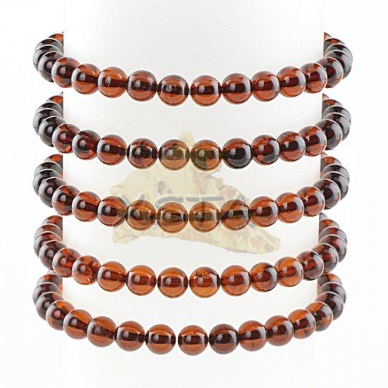 Amber bracelet for men 20,5 cm