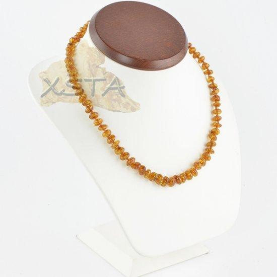 Cognac amber necklace polished baroque