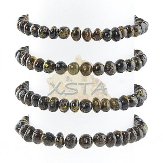 Green color amber bracelet