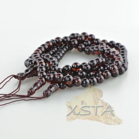 Dark cherry Islamic amber rosary