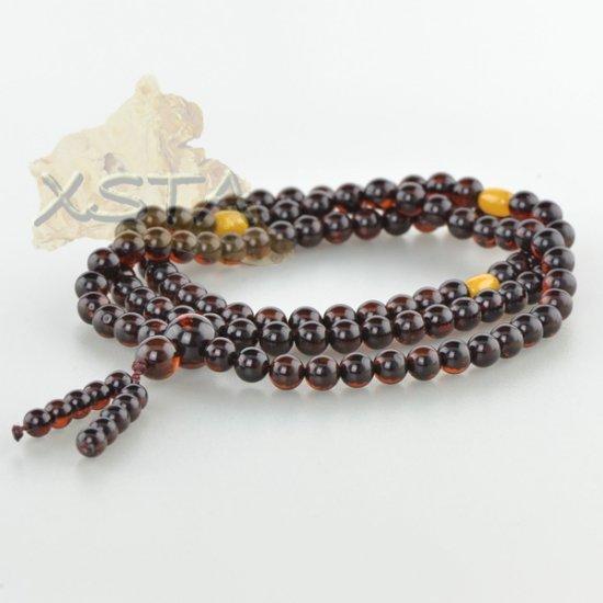 Baltic amber round beads rosary