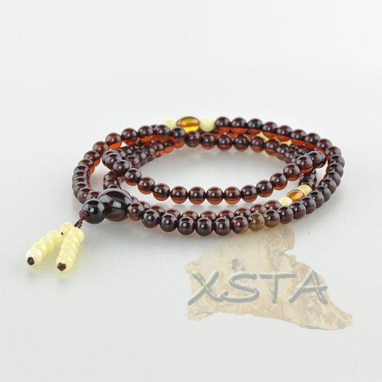 Tibetan Buddhist Baltic amber rosary