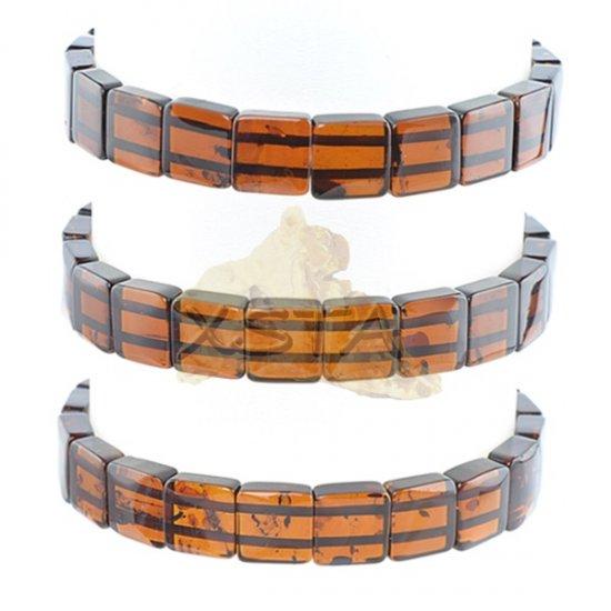 Light cherry Amber cube bracelet