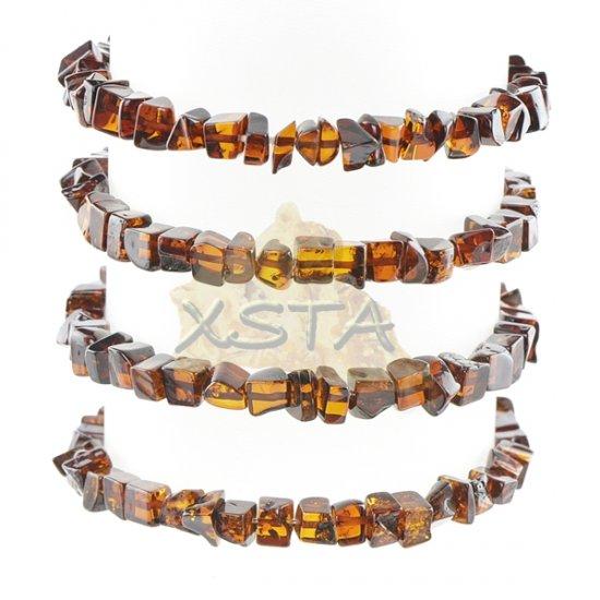 Light cherry amber bracelet polished