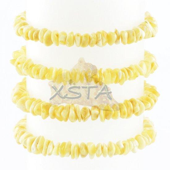 Milky chips amber bracelet