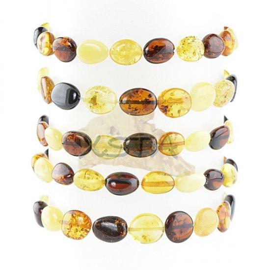 Mix amber beads polished olive