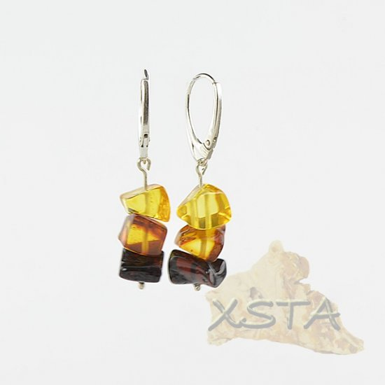 Natural baltic amber earrings